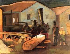 Felix Nussbaum - Locomotive