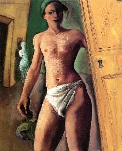 Felix Nussbaum - Man with Flower