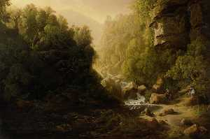 James Francis Danby - The Mountain Torrent