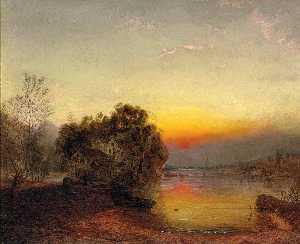James Francis Danby - Early Morning The Fisherm..