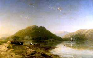 James Francis Danby - Loch Fyne with Inverary C..