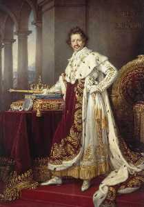 Joseph Karl Stieler - King Ludwig I in his Coro..
