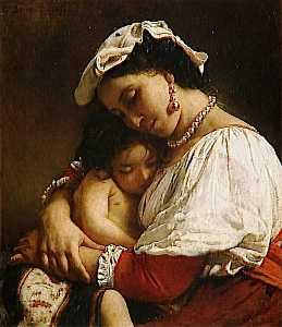 Léon Joseph Florentin Bon.. - Italian Woman with Child