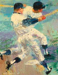 Leroy Neiman - Mickey Mantle, Switcher