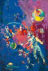 Leroy Neiman - Football Star Constellati..