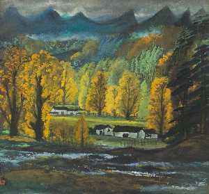 Lin Fengmian - Autumn Forests