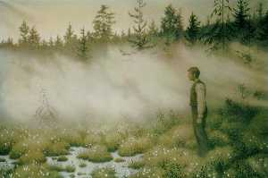 Theodor Kittelsen - The Fairy That Disappeare..
