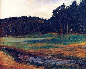 Wilhelm Trübner - The Edge of the Woods at ..