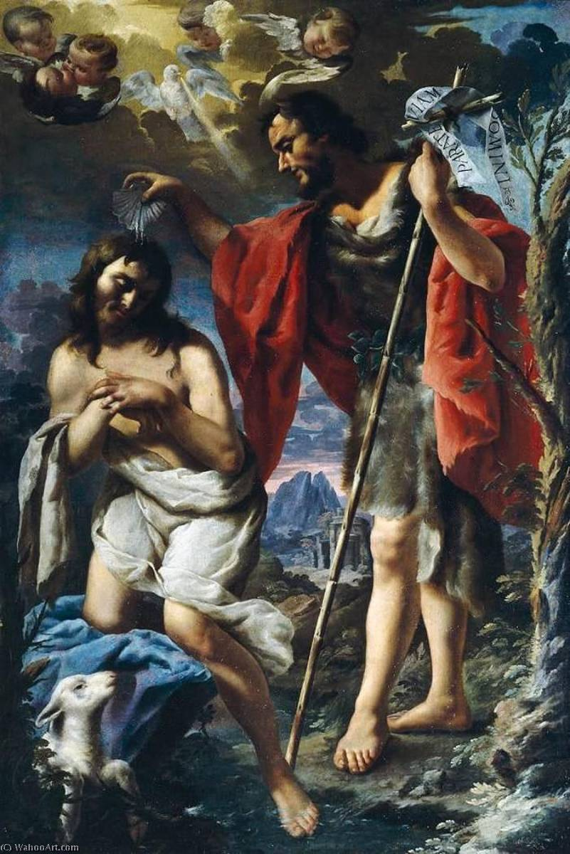 Baptism of Christ by Alessandro Rosi (1627-1697) | Museum Quality Reproductions | ArtsDot.com