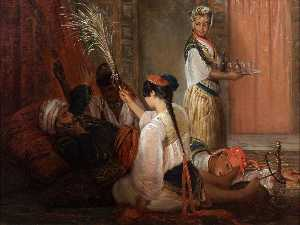 Francois Auguste Biard - In the Harem