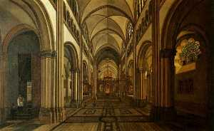 Gerrit Adriaenszoon Berck.. - Interior of the Münsterba..
