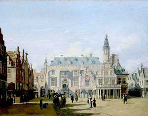 Gerrit Adriaenszoon Berck.. - The Market Place and Town..