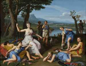Nicolas Colombel - Diana Returning from the ..