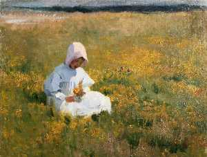 Marianne Stokes - In a Fild of Buttercups