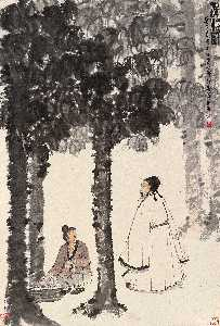 Fu Baoshi - CLEANSING THE TUNG TREE