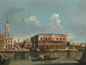 Francesco Tironi - Venice, a view of the Pia..