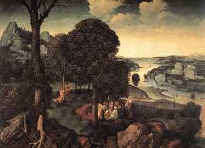 Joachim Patinir - Landscape with Saint John..