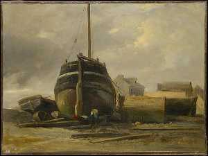 Jules Louis Philippe Coig.. - Shipyard at Le Havre