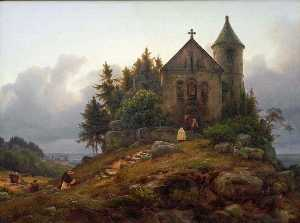 Karl Friedrich Lessing - Forest Chapel