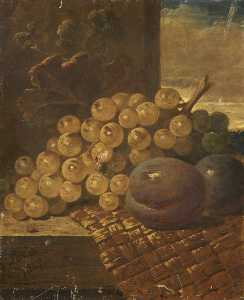 George Lance - Still Life with Fruit