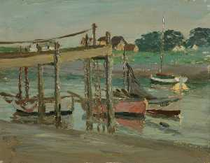 Henry Clarence Whaite - Walberswick, Boats on the..