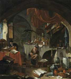 Thomas Wyck - An Alchemist in His Labor..