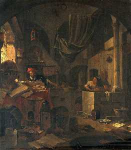 Thomas Wyck - Interior with an Alchemis..