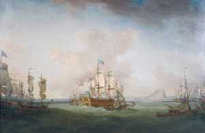 Richard Paton - The Relief of Gibraltar, ..