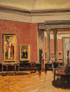 Stanley Cursiter - The Interior of the Natio..