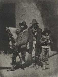 Charles Nègre - Group of Three Bag Pipers..