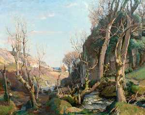 Samuel John Lamorna Birch - In Our Old World Valley