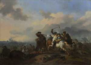 Jan Van Huchtenburgh - A Battle
