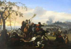 Jan Van Huchtenburgh - A Country Skirmish