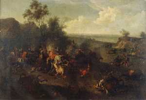 Jan Van Huchtenburgh - Battle Piece (II)