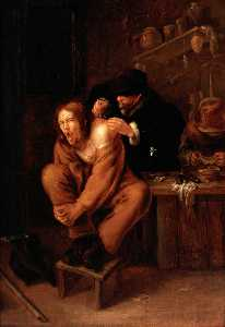 Gerrit Lundens - A Surgeon Applying Medici..
