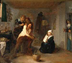 Gerrit Lundens - Interior with a Surgeon O..