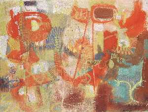 Nikos Kessanlis - Abstract in red
