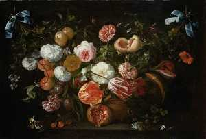 Jan Davidszoon De Heem - A Garland of Flowers