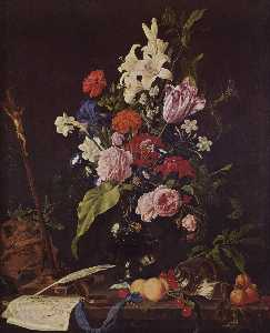 Jan Davidszoon De Heem - Flower Still life with Cr..