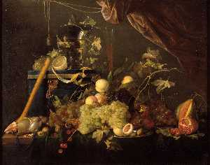 Jan Davidszoon De Heem - Fruit Still Life with jew..