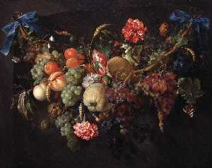 Jan Davidszoon De Heem - Garland with fruits