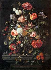Jan Davidszoon De Heem - Flowers in Glass and Frui..