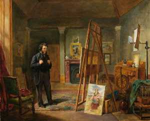 John Ballantyne - Thomas Faed at His Easel ..