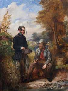 John Ballantyne - The Artist Fishing with H..