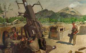 Henry Marvell Carr - A 3.7 Anti Aircraft Gun o..