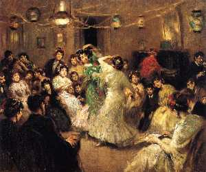 Francis Luis Mora - A Family Party, Triana, S..