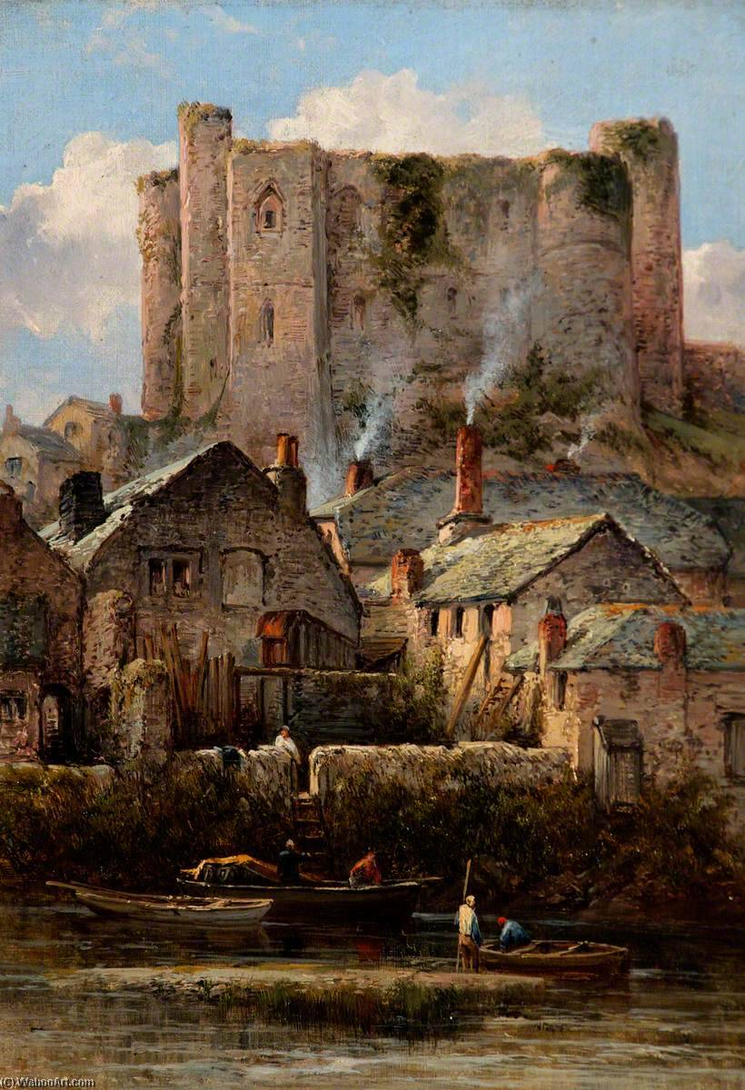 Haverfordwest Castle, South Wales by William Pitt | Oil Painting | ArtsDot.com