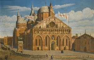 Antoine Marie Perrot - Padua, a view of the Basi..