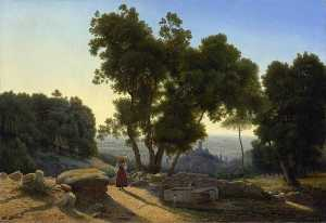 Antoine Marie Perrot - View outside Florence