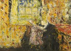 Jack Butler Yeats - An Old Timer Reading